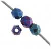 Fire polished 3mm Blue Iris